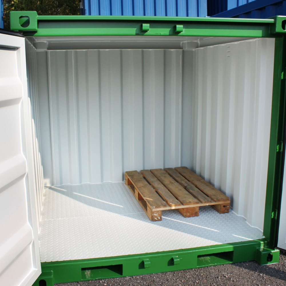 köpa eller hyra 6 fot container