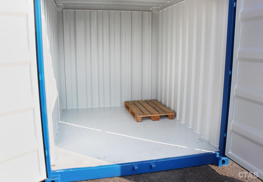 Container 10 fot invändigt