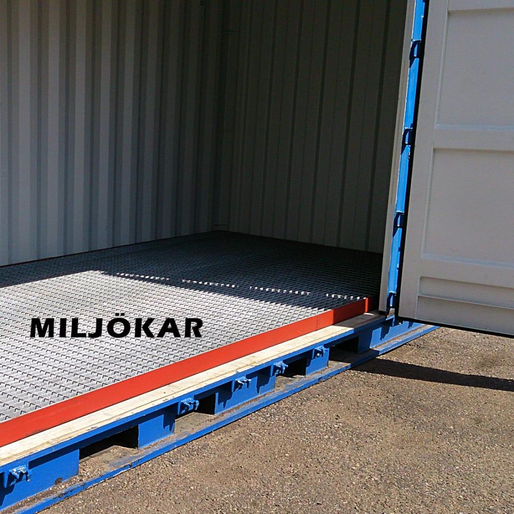 miljöcontainer 10 fot miljökar