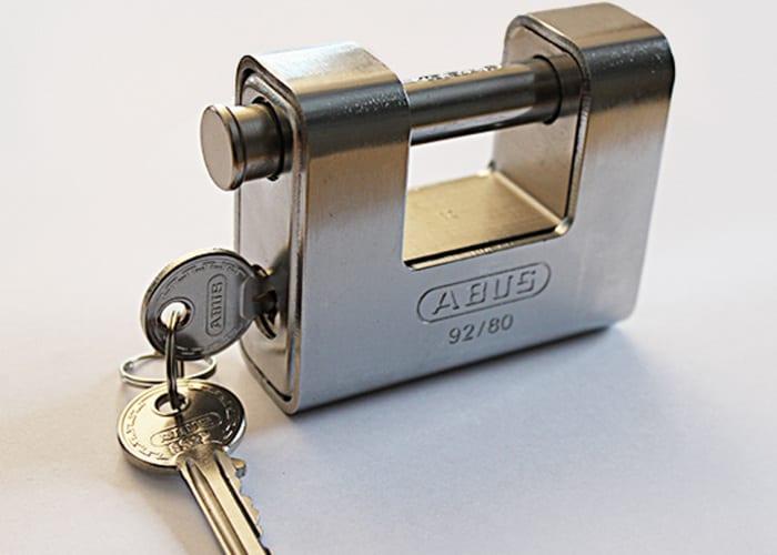 Abus monoblock lås