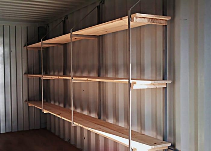 Container tillbehör hyllkonsoler